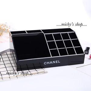 Chanel Brush lipstick makeup vanity box Organizer